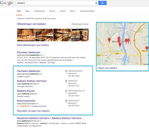 voorbeeld google zoeken